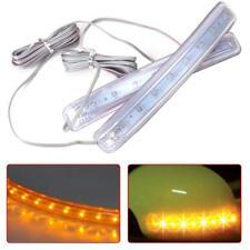 2x Universal Auto Car Side Mirror Amber Indicator Soft Turn Signal Light Yellow