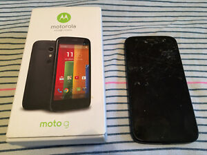 Used Motorola Moto G XT1032 8GB Black Network Unlocked Smartphone! FREE SHIPPING