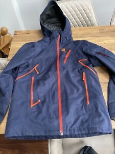Men's Salomon Foresight Ski Jacket Medium Blue snowboard coat used