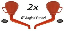 """2x 6"""" Red Angled Funnel Detachable Spout Mesh Screen Strainer Gasoline Diesel"""