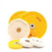 """3-12"""" Cotton Buffing Polishing Wheel 4mm Hole For Craft Jewelry Metal Wood Tools"""