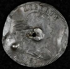 LARGE CENT NIGHT! HISTORICAL VF DETAILS 1797 DRAPED BUST. S-139 REV 97' STEMS!