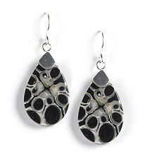 Jody Coyote Earrings JC0842 new hypoallergenic Horizon HZ-0811-08 silver blue 2