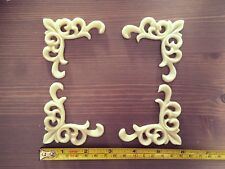 Set Of 4 Shabby Chic Furniture Corners Resin Appliques Mouldings Onlays decals