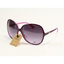 New DG Eyewear Purple Retro Vintage Oversized Womens Fashion Sunglasses