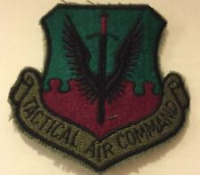 USAF Air Force Tactical Air Command Patch  Sword Wings Green & Red Background
