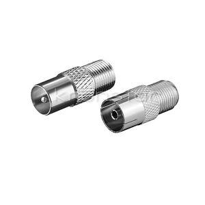 Adapter SET für F-Stecker Antennenstecker Koaxial Stecker Kupplung auf F-Buchse