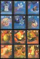 GUERNSEY 2007 CHRISTMAS SET OF 12 Mint Never Hinged/MNH