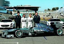Ross BRAWN Signed Autograph 12x8 Photo C AFTAL COA Mercedes Petronas Formula 1