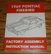 1969 Pontiac Firebird Factory Assembly Instruction Manual 69