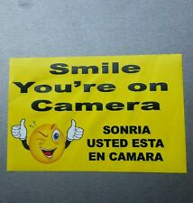 VIDEO SURVEILLANCE Security Decal Warning Sticker (smile 6x4in )   1.  Pc.   #4
