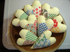 Vintage cutter quilt hearts bowl fillers baby photo props Dresden Plate