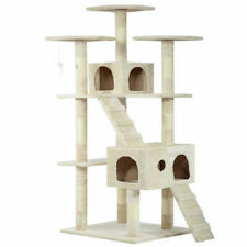 """73"""" Cat Tree Scratcher Play House Condo Furniture Bed Post Pet House-"""