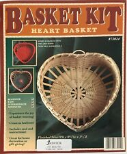 Heart Shaped Basket Weaving Kit, Basket Making, Weaving Supplies, Reed, Pattern