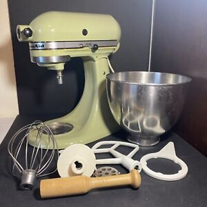 KitchenAid Vintage Stand Mixer Green  Whisk Beater Hook Working K45