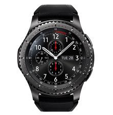 SAMSUNG GALAXY GEAR S3 SM-R765 Frontier Bluetooth Wifi Black Smart Watch
