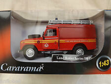 miniature Land Rover 109 série 3 Fire Brigade pompiers  1/43 neuve en boite