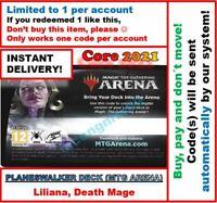 MAGIC MTG Arena Code: Planeswalker Deck Core Set 2021: LILIANA INSTANT EMAIL! 🚚
