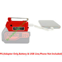 1PCS Black+Decker 20V LBX20 Li-Ion Battery USB Power Source Adapter w/12V Port