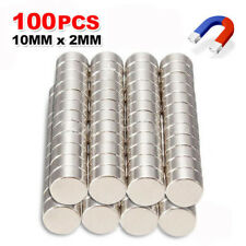 100x Lots N35 Strong 10mm x 2mm Round Disc Magnets Rare Earth Neodymium Magnet
