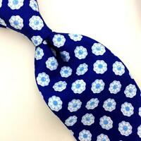 Kiton Napoli Tie Twill Blue Medallion Seven Fold Floral Luxe Necktie Ties L5 NWT