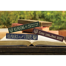 Set/3 Mini Rustic Signs Country Wisdom Reading Sticks Country blocks