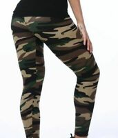 Legging Leggings Camouflage NEU Jeggings Army Damen