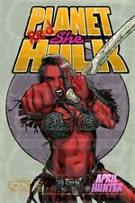 APRIL HUNTER - RED She Hulk 11x17  Authographed and personalized by April Hunter