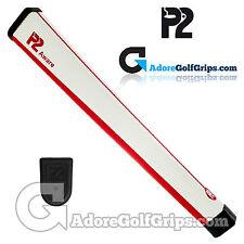 P2 consapevole di Medie Dimensioni Putter Grip-Bianco/Rosso + Gratis Nastro