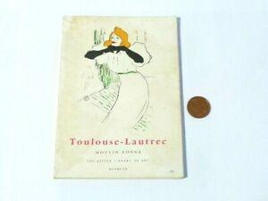 1964 Toulouse-Lautrec Moulin Rouge Art Book By Eduardo Julien