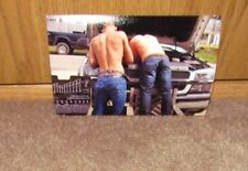 Shirtless Male Athletic Red Neck Hunks In Jeans Fixing Truck PHOTO 4X6 C714