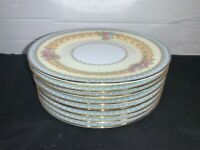 Lot of 8 Vintage Noritake China Juno Bread and Butter Plates