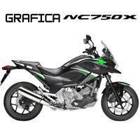 ADESIVI DECAL STICKERS HONDA NC750X NC 750 X RACING CARENA GRAFICA BIANCO VERDE