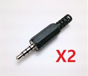 Clavija Conector Jack Macho Ø 3,5 mm - 4 Contactos - Pack 2 Unidades