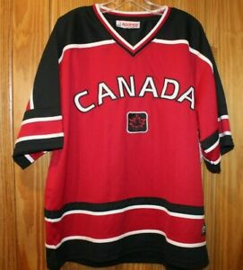 NWT Men's  Teepee Canada Hockey Jersey Size X-Large Red And Black - Brand new!