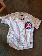 NEW!!! Majestic Athletic Chicago Cubs Cool Base Blank White Pinstripe Jersey L