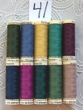 10 different colors GUTERMANN 100% polyester thread 110 yards each Spool (#41)