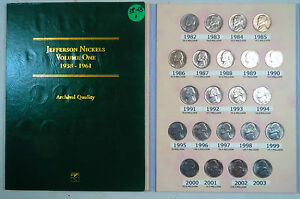 PRICED TO SELL>> 1938-2003 JEFFERSON NICKELS COLLECTION, w/ WAR SILVER in Folder