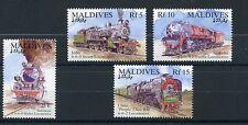 Maldives 1994 MNH Trains 4v Set III Railways Locomotives Stamps