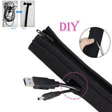 Cable Management Sleeve Neoprene Flexible Wire Hider Cord Cable Cover Organizer