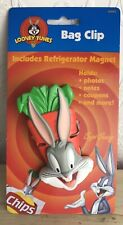 More details for joblot of 10 - 1997 looney tunes bugs bunny magnet food bag picture clip - new