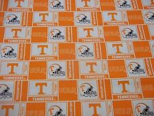 """UNIVERSITYof TENNESSEE """"GO VOLTS"""" 100% COTTON 1 YARD NEW SQUARE DESIGN"""
