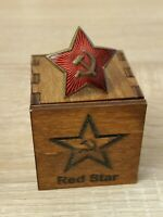 RUSSIAN SOVIET GOLD RED STAR WW2 INSIGNIA ARMY AWARD MEDAL BADGE ORDER + BOX