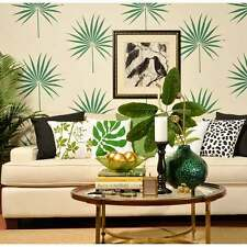 Palmetto Leaf Wall Art Stencil - Tropical Wall Design - DIY Home Decor Stencils
