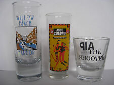 "3 SHOT GLASSES, TEQUILA JOSE CUERVO, WILLOW BEACH HARBOR, ""THE SHOOTERS"""