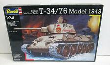 Engin Blindé : TANK RUSSE T34-76 Model 1943 - Maquette 1/35eme - REVELL 03064