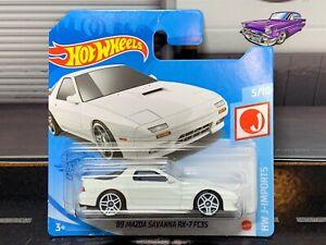 Hot Wheels '89 Mazda Savanna RX-7 FC3S White 2021 Short Card