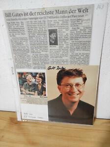 Autogrammkarte aus großer Sammlungsauflösung Bill Gates