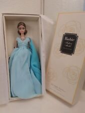 Silkstone Barbie Blue Chiffon Ball Gown dress doll fashion model gold label NRFB