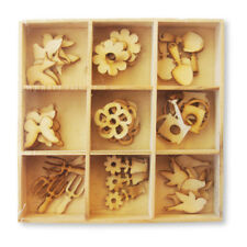 Pack 45 Mixed Wooden Spring embellishments great for cards & crafts